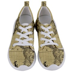 Map Vintage Old Ancient Antique Women s Lightweight Sports Shoes