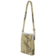 Map Vintage Old Ancient Antique Multi Function Travel Bag