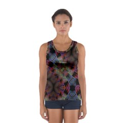 Abstract Animated Ornament Background Fractal Art Sport Tank Top  by Wegoenart