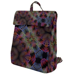 Abstract Animated Ornament Background Fractal Art Flap Top Backpack by Wegoenart