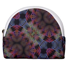 Abstract Animated Ornament Background Fractal Art Horseshoe Style Canvas Pouch by Wegoenart