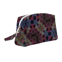 Abstract Animated Ornament Background Fractal Art Wristlet Pouch Bag (medium)