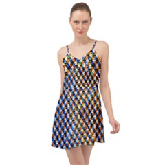 Kaleidoscope Art Unique Design Summer Time Chiffon Dress by Wegoenart