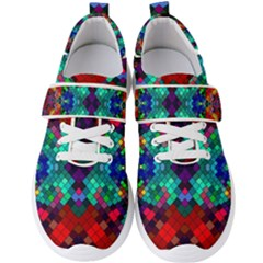 Abstract Art Background Design Men s Velcro Strap Shoes