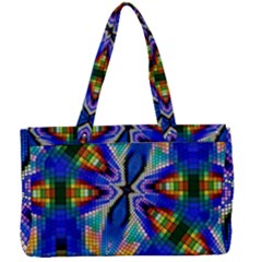 Art Kaleidoscope Meditation Mosaic Canvas Work Bag by Wegoenart