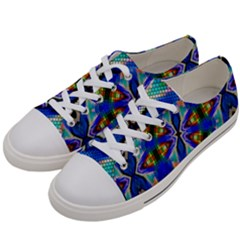 Art Kaleidoscope Meditation Mosaic Women s Low Top Canvas Sneakers by Wegoenart