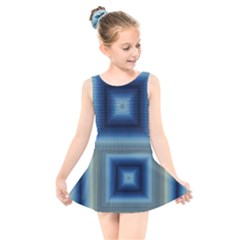Artscope Justifyyourlove Kaleidoscope Kids  Skater Dress Swimsuit by Wegoenart