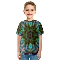 Abstract Art Background Flames Kids  Sport Mesh Tee