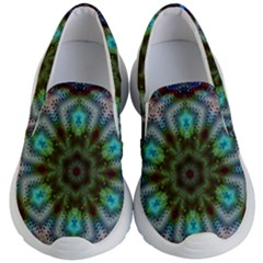 Abstract Art Background Flames Kids  Lightweight Slip Ons