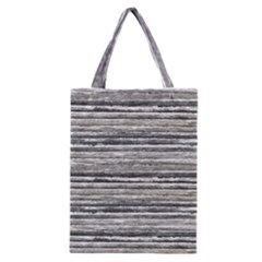 Striped Grunge Print Design Classic Tote Bag by dflcprintsclothing
