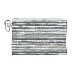 Striped Grunge Print Design Canvas Cosmetic Bag (large) by dflcprintsclothing