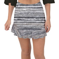 Striped Grunge Print Design Fishtail Mini Chiffon Skirt by dflcprintsclothing