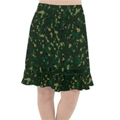 Greencamo Fishtail Chiffon Skirt