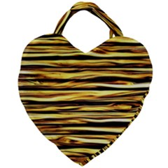 Texture Wood Giant Heart Shaped Tote