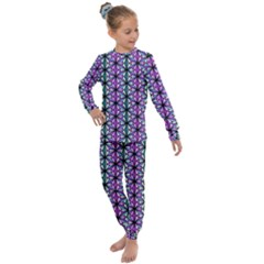 Triangle Seamless Kids  Long Sleeve Set  by Mariart