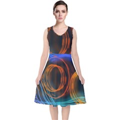 Research Mechanica V Neck Midi Sleeveless Dress
