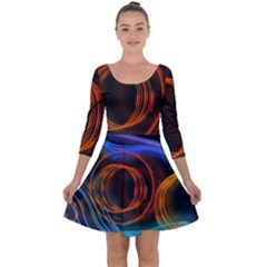 Research Mechanica Quarter Sleeve Skater Dress
