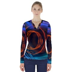 Research Mechanica V Neck Long Sleeve Top