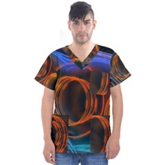 Research Mechanica Men s V Neck Scrub Top
