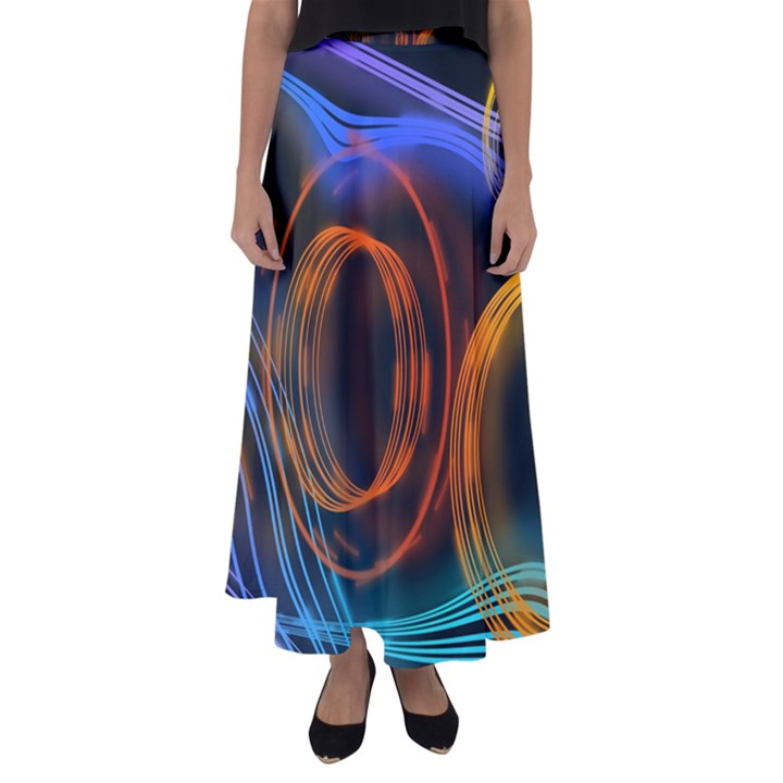 Research Mechanica Flared Maxi Skirt