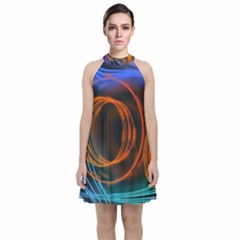 Research Mechanica Velvet Halter Neckline Dress