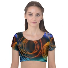 Research Mechanica Velvet Short Sleeve Crop Top