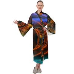 Research Mechanica Maxi Tie Front Velour Kimono