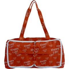 Motivational Happy Life Words Pattern Multi Function Bag