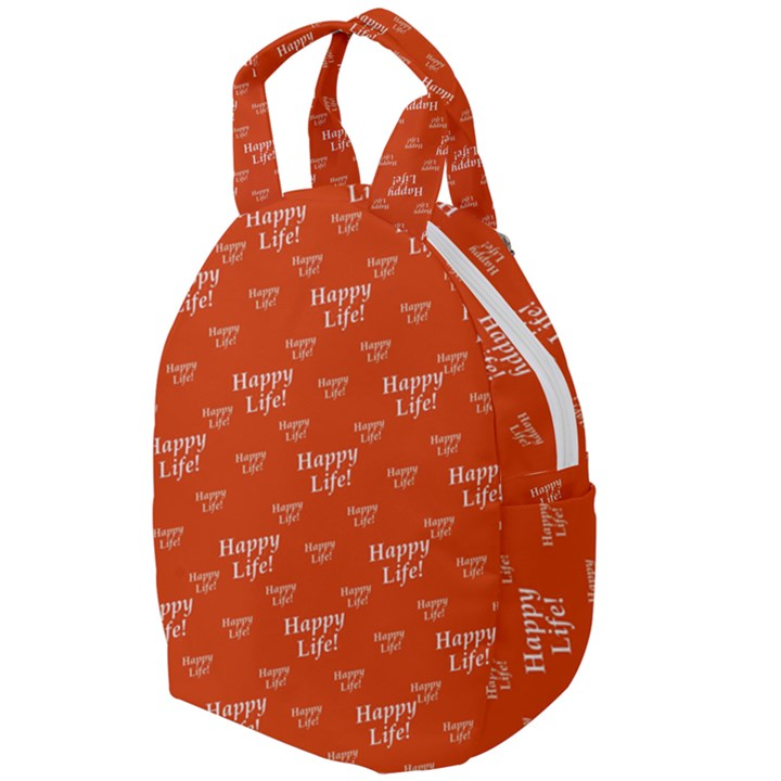 Motivational Happy Life Words Pattern Travel Backpacks