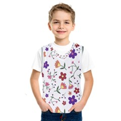 Flowers On A White Background                  Kids  Basketball Tank Top