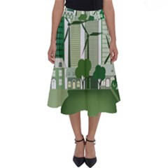 Vector Energy Saving Caring For The Earth Perfect Length Midi Skirt