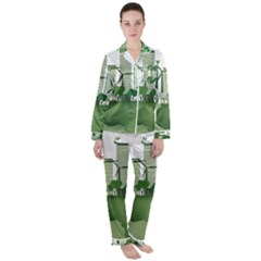 Vector Energy Saving Caring For The Earth Satin Long Sleeve Pyjamas Set