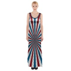 Usa Deco Background Maxi Thigh Split Dress