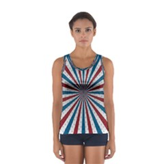 Usa Deco Background Sport Tank Top