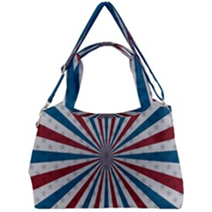Usa Deco Background Double Compartment Shoulder Bag by Bejoart