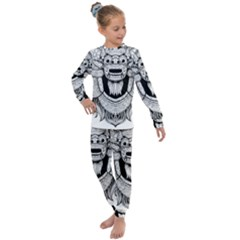 Balinese Art Barong Drawing Bali Kids  Long Sleeve Set