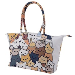Cat Kitten Canvas Shoulder Bag