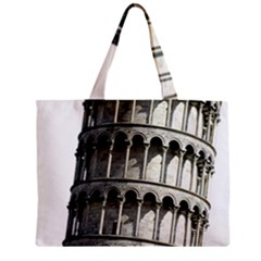 Leaning Tower Of Pisa Eiffel Tower Travel Zipper Mini Tote Bag
