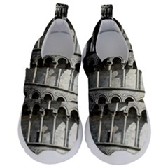 Leaning Tower Of Pisa Eiffel Tower Travel Kids  Velcro No Lace Shoes by Bejoart