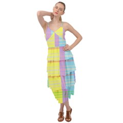 Easter Background Easter Plaid Layered Bottom Dress by Simbadda