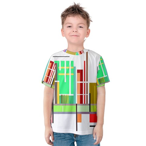 Business Finance Statistics Graphic Kids  Cotton Tee by Simbadda