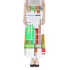 Business Finance Statistics Graphic Full Length Maxi Skirt by Simbadda