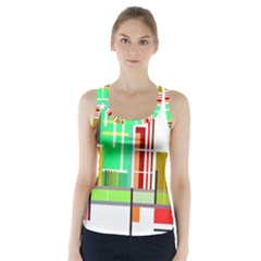 Business Finance Statistics Graphic Racer Back Sports Top by Simbadda