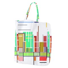Business Finance Statistics Graphic Giant Grocery Tote by Simbadda