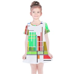 Business Finance Statistics Graphic Kids  Simple Cotton Dress by Simbadda