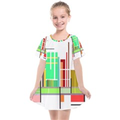 Business Finance Statistics Graphic Kids  Smock Dress by Simbadda