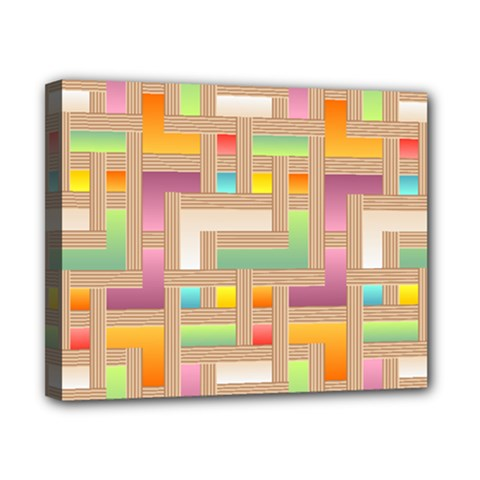 Abstract Background Colorful Canvas 10  X 8  (stretched)