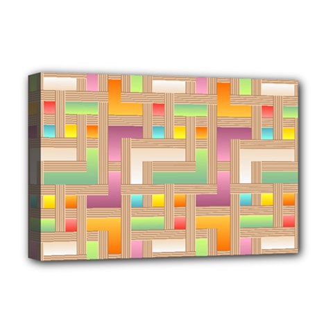 Abstract Background Colorful Deluxe Canvas 18  X 12  (stretched)