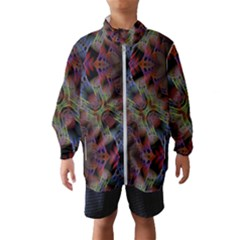 Animated Ornament Background Fractal Art Kids  Windbreaker by Simbadda