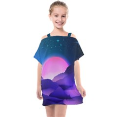 Mountain Sunrise Mountains Sunrise Kids  One Piece Chiffon Dress